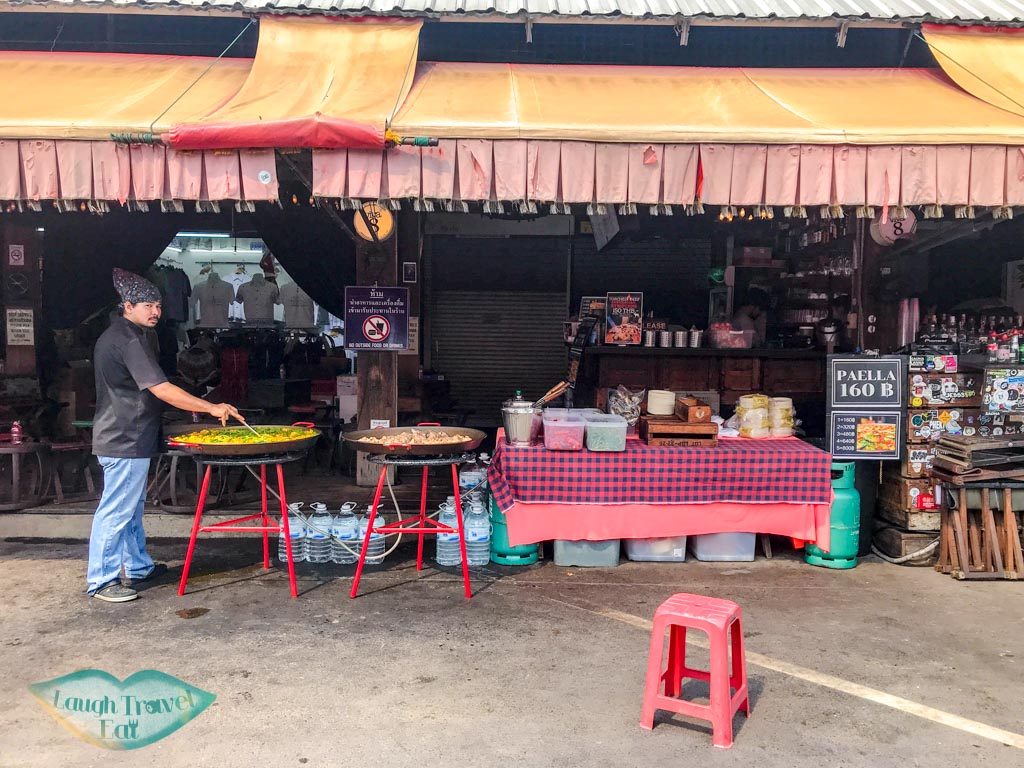 famous paella guy chatuchak market bangkok thailand - laugh travel eat