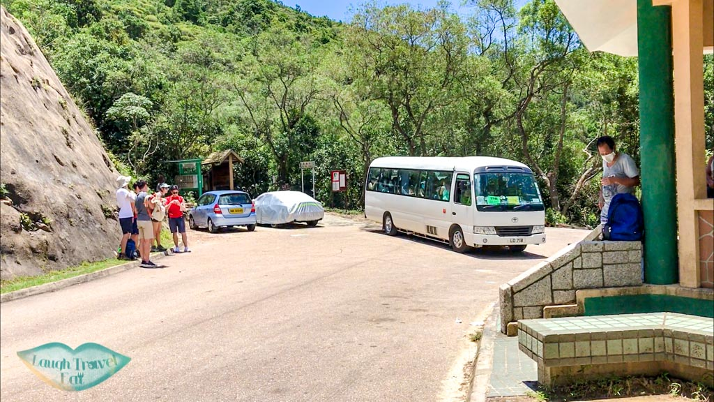 shuttle bus at sai wan pavilion sai kung hong kong - laugh travel eat