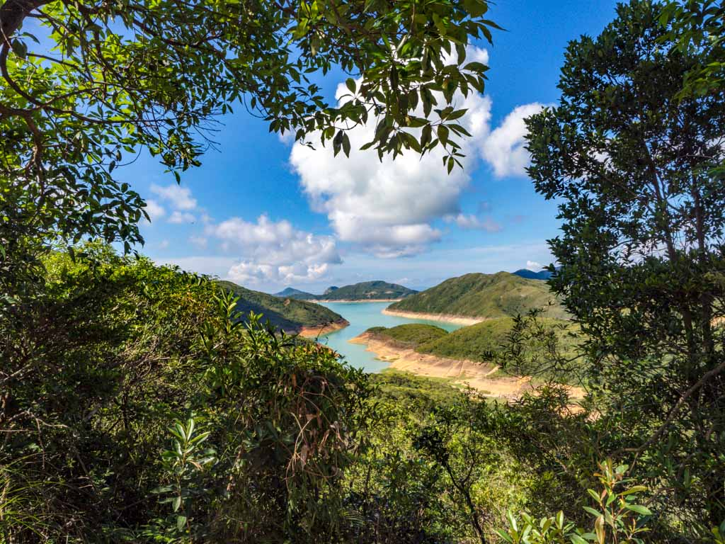 view of higs\hland reservoir sai wan pavillion to kam kui shek teng trail sai kung hong kong - laugh travel eat
