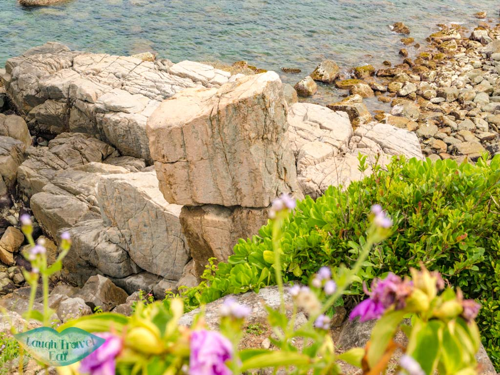 balanced rock grass island sai kung hong kong - laugh travel eat