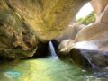 hidden waterfall at the top madai stream Ma On Shan Hong Kong - laugh travel eat