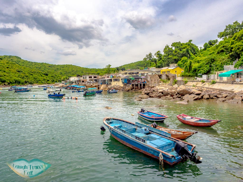 view from pier grass island sai kung hong kong - laugh travel eat