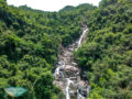 drone shot of wang hung stream hong kong - laugh travel eat