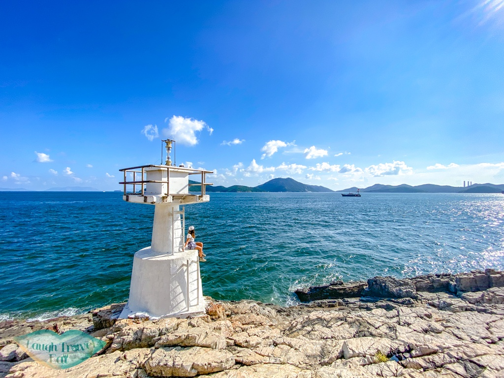 lighthouse at the end of ap lei pai hong kong - laugh travel eat