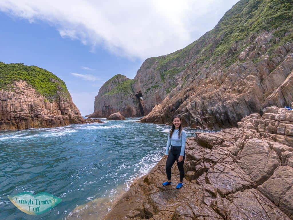 nearmkwan to cave basalt island sai kung hong kong - laugh travel eat