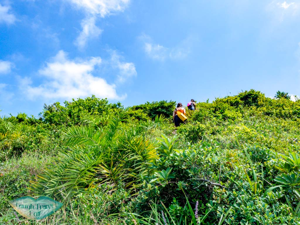 ung kong wan to clasping hand second stretch rock bluff island hong kong - laugh travel eat