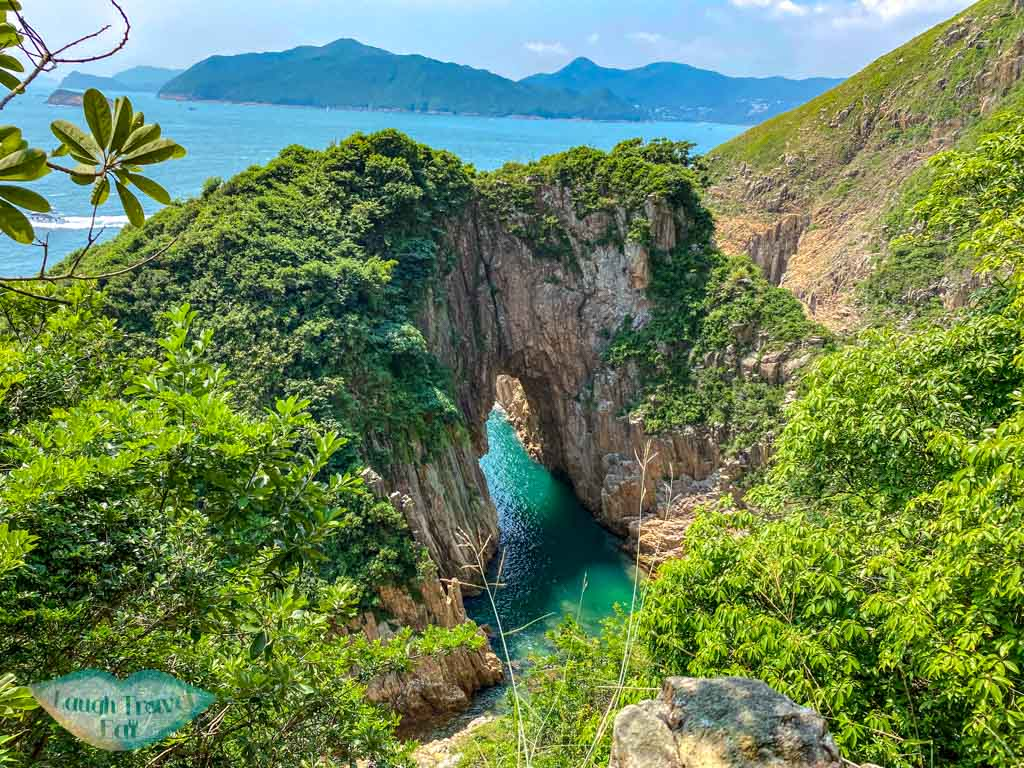 view of goldfish tail arch as we go trail on top of the mountain jin island sai kung hong kong - laugh travel eat-2