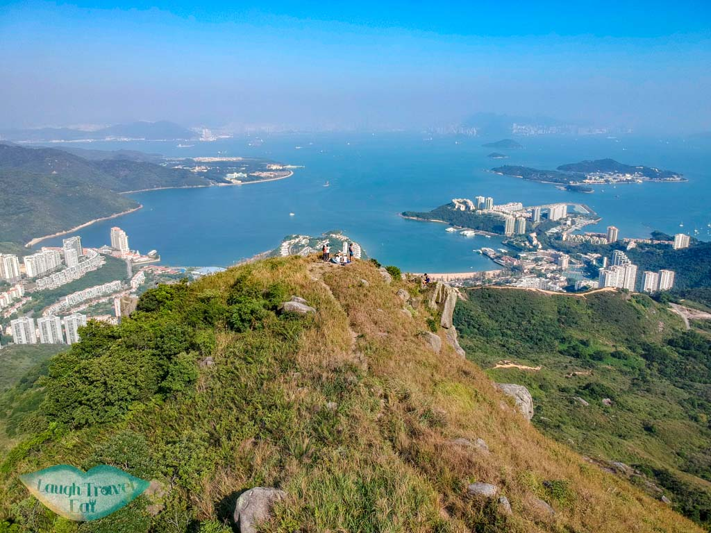 drone shot lo fu tau lantau island hong kong - laugh travel eat