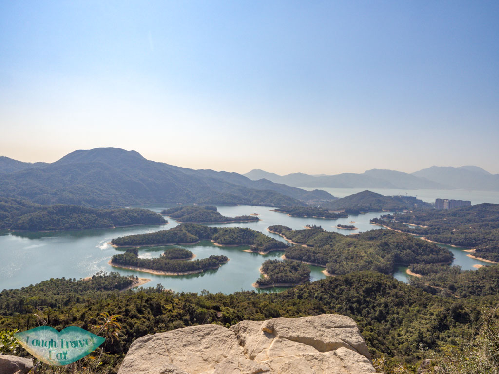 lower rock reservoir island viewpoint tai lam country park yuen long hong kong - laugh travel eat