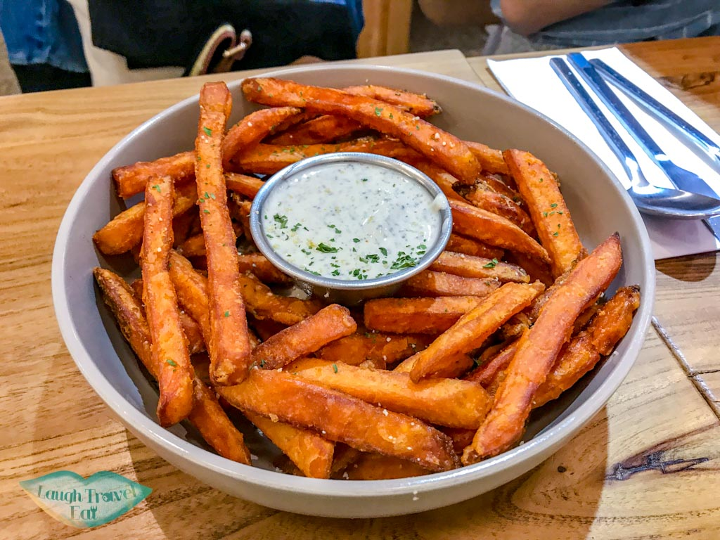 sweet potato fries the park by years sham shui po food kowloon hong kong - laugh travel eat