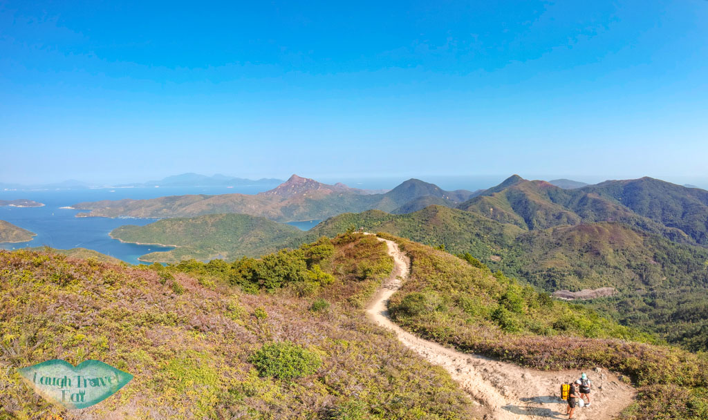drone shot of high point of maclehose trail stage 3 cheung sheung sai kung hong kong - laugh travel eat