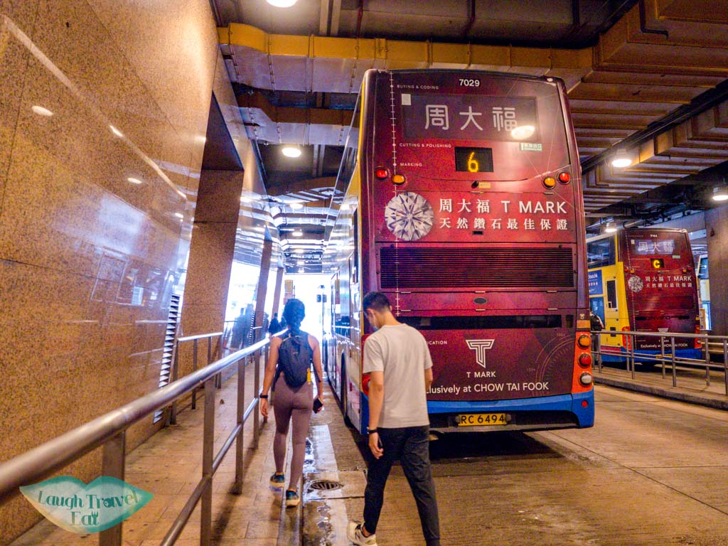 6 or 6x bus from exchange square to chung hom kok hong kong - laugh travel eat